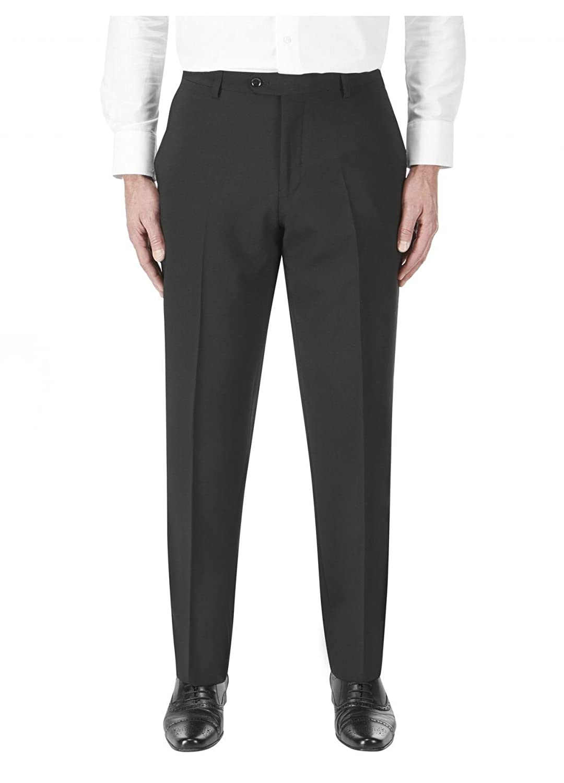 SKOPES Wool Rich Darwin Black Suit Trouser in Waist 30 to 60, S/R/L