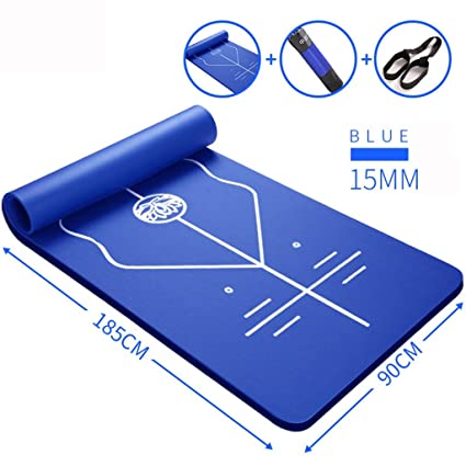 Amazon.com : Yoga mat Beginners Auxiliary Line Position ...