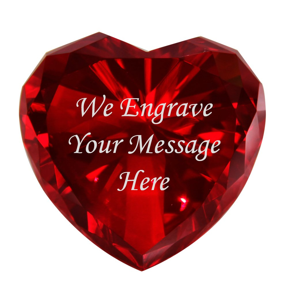 Personalized Custom Engraved Crystal Diamonds (RED)
