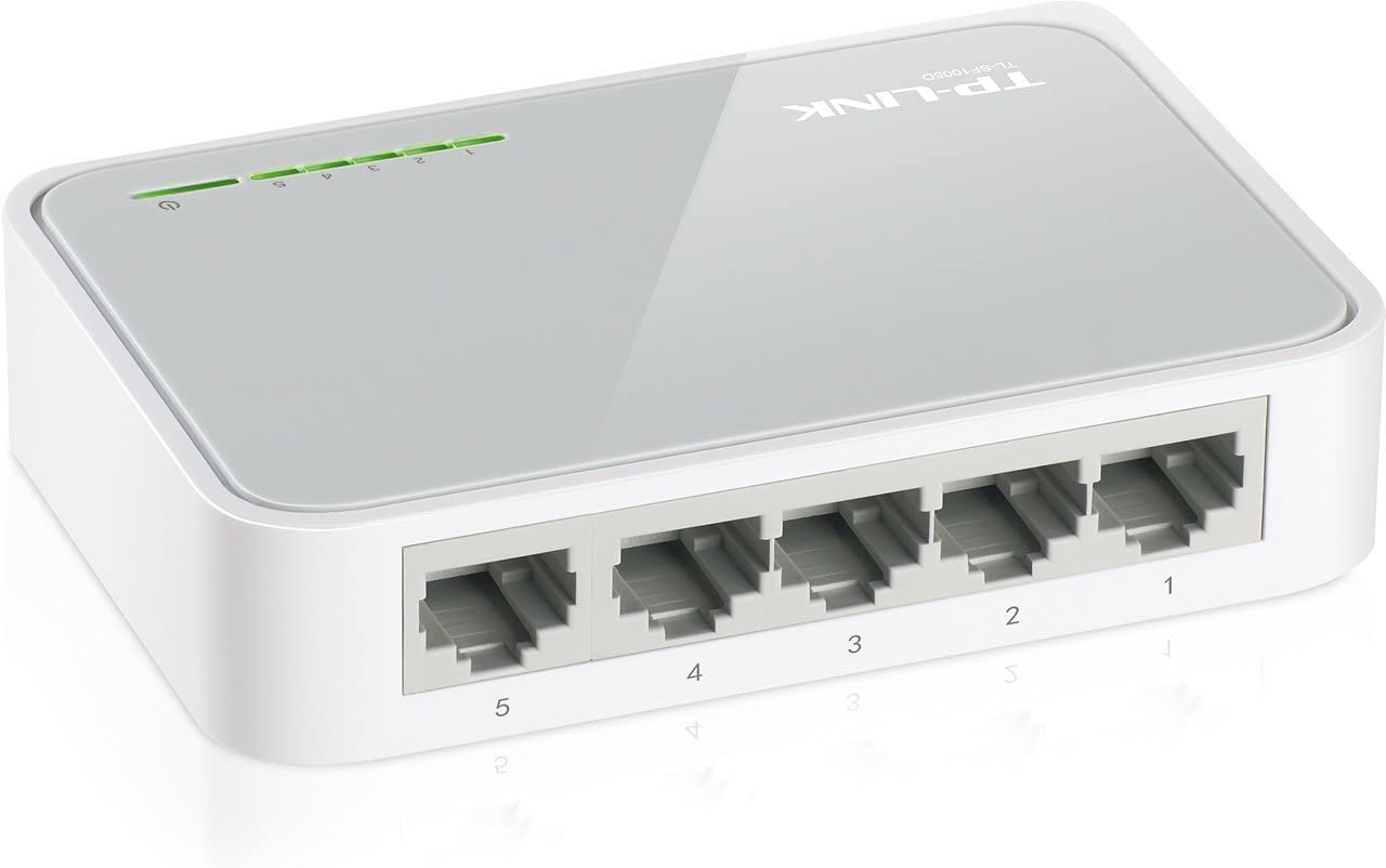 TP-LINK TL-SF1005D 5-Port 10/100Mbps Desktop Switch (Renewed)