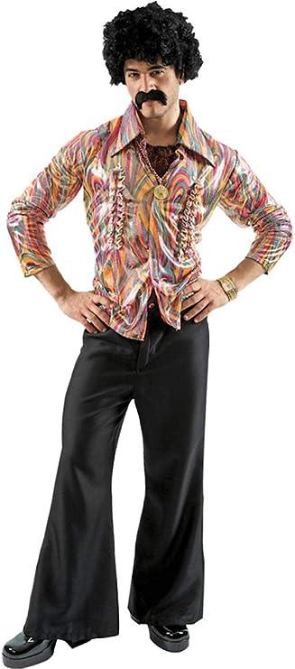 Homme Hippie Costume Déguisement 60 S marron Rainbow Tassles haut gilet pantalon