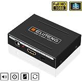 ELUTENG HDMI 音声分離 to 光デジタル/アナログ 1080P 2RCA SPDIF ステレオ 高音質 出力 デジタルオーディオ分離器 1080P HDMI 音声 映像 アナログ SPDIF RCA出力 5.1CH/2CH 音声分離器 SPDIF 白赤 L R PS4/PS3/XBox/PC/DVD Blu-Ray Player/HD テレビ 等対応