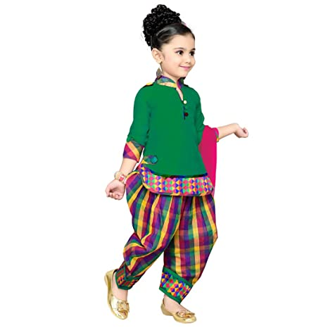 269293379 Aarika Girl s Cotton Silk Kurti