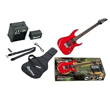 Ibanez ijrg220z batería de arranque 6 cuerdas Guitarra eléctrica - color rojo: Amazon.es: Instrumentos musicales
