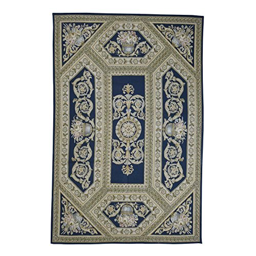 (Aubusson Weave with Charles X Design Neo Class Hand Woven Rug)