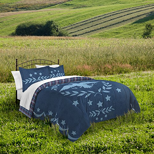 Destinations Independence Eagle Comforter Set, King, Denim