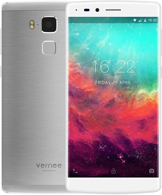 Vernee Apollo Lite Moonlight Silver Android 6.0 4G, 5.5 Pulgadas, MTK6797 Arco Deca Core 4 GB de RAM, 32 GB ROM, 16MP Cámara Trasera, Huella Digital, Corning Gorilla 3: Amazon.es: Electrónica