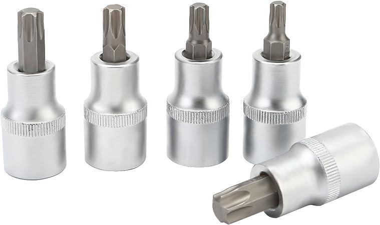 LESOLEIL 30pcs Torx Bit Socket Set Hex Bit Star Socket Wrench Tool Kit S2 and Cr-V Steel