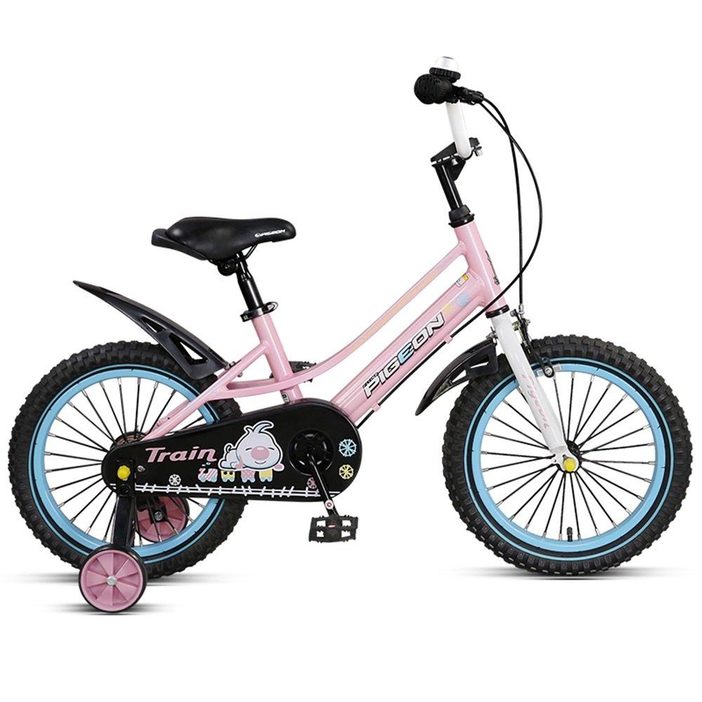 子供用自転車、アルミ合金フレーム、14/16インチの男性と女性のサイクリング、3-6歳の赤ん坊の誕生日プレゼント ( 色 : ピンク ぴんく , サイズ さいず : 14 inch ) B078KNGXL1 14 inch|ピンク ぴんく ピンク ぴんく 14 inch