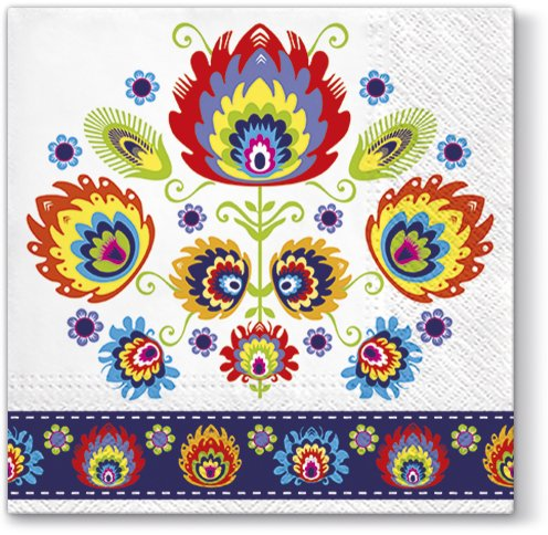 Lowicz Design Luncheon Napkins 40pcs 13