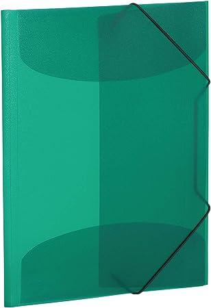 HERMA 19521 Sammelmappe DIN A3 Kunststoff dunkelgrün tranzparent Gummizugmappe