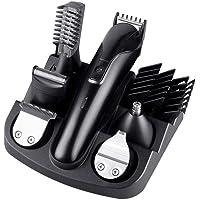 Beard Trimmer Kit for Men, MOGOI 6 in 1 Multi-functional Body Groomer Kit, Cordless Electric Hair Clipper + Beard Shaver + Precision Trimmer + Nose & Ear Hair Trimmer, Rechargeable Waterproof