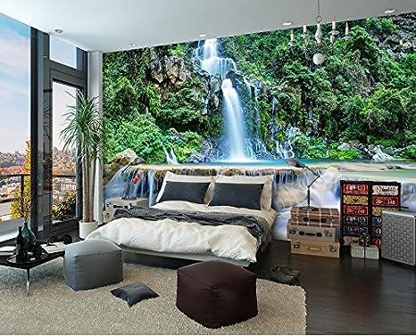 Decorazioni Per Casa Montagna : Sykdybz 3d sala da bagno wallpaper cascata di montagna acqua 3d
