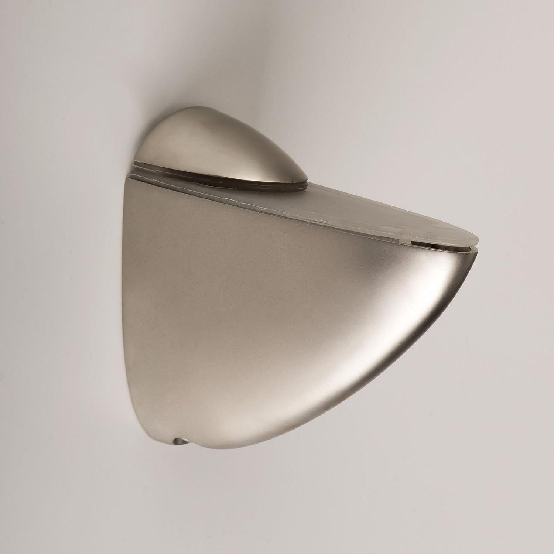 SO-TECH® Soutien étagères Taquets pour fonds en verre PELIKAN (moyen) aspect d'acier affiné SOTECH