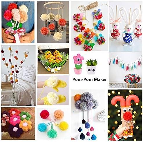 Needle Craft Yarn Hand Kits Weaver Tool Wool Knitting Pompom Maker Fluff Ball