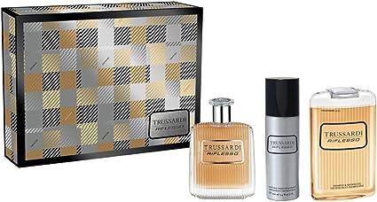 Estuche para hombre Trussardi Riflesso Perfume Eau de Toilette 100 ml + Deo Spray 100 ml + Shower Gel 200 ml Giosal: Amazon.es: Belleza