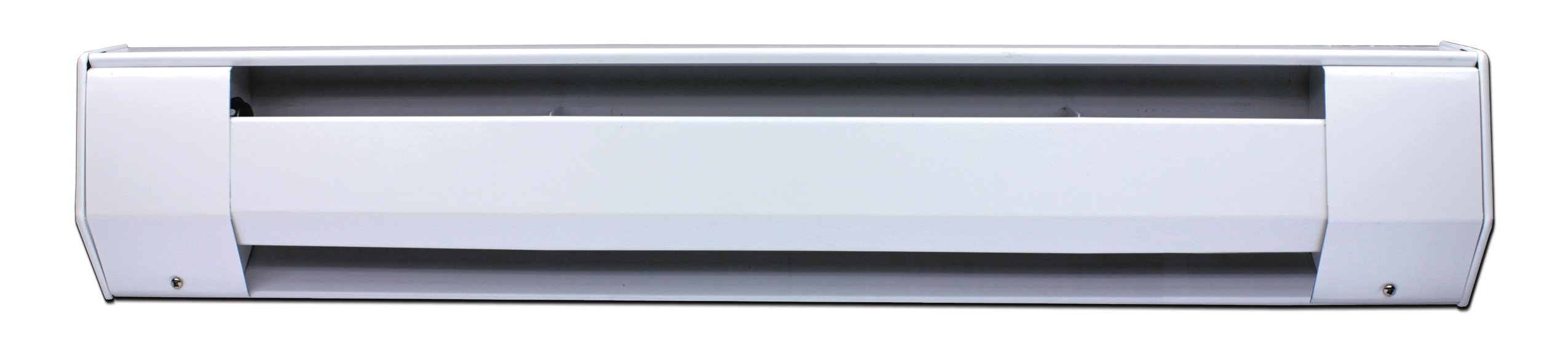 King 8K2420BW 2,000-1,500-Watt 240/208-Volt 8-Foot Baseboard Heater, Bright White