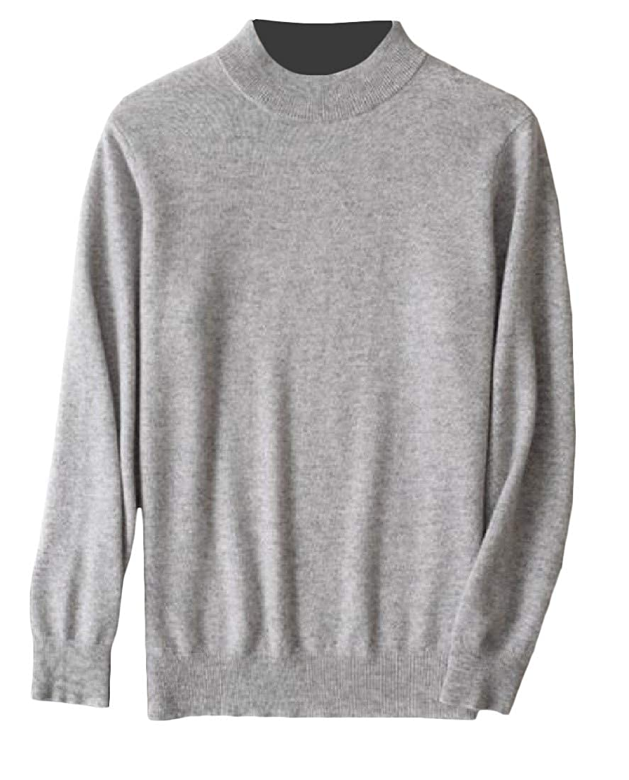 Lutratocro Mens Mock Neck Solid Jumper Pullover Slim Fit Knitted Sweaters