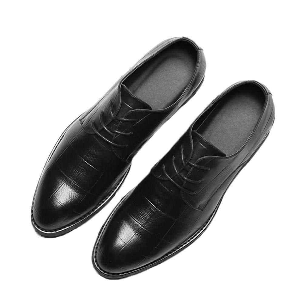 Mens Oxford Shoes Pointed Toe Lace Up Business Comfortable Dress Shoes