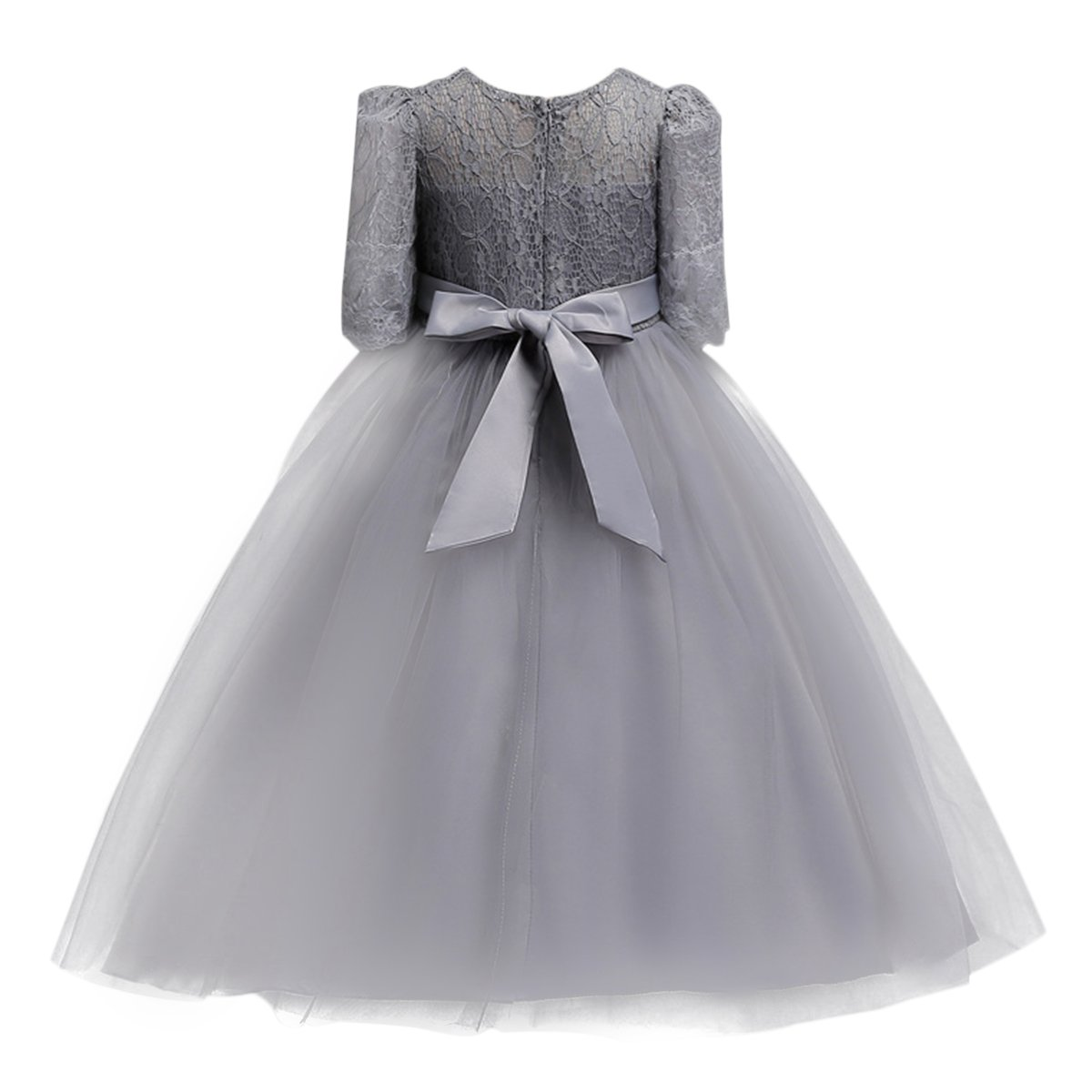7be23b9a1404a Amazon.com: Little Big Girl Lace Flower Princess Formal Dress for Kids  Tulle Party Dance Ball Gown Wedding Pageant: Clothing