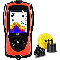 $79 Get LUCKY Portable Fish Finder Handheld Kayak Fish Finders Wired Fish Depth Finder Sonar Sensor…