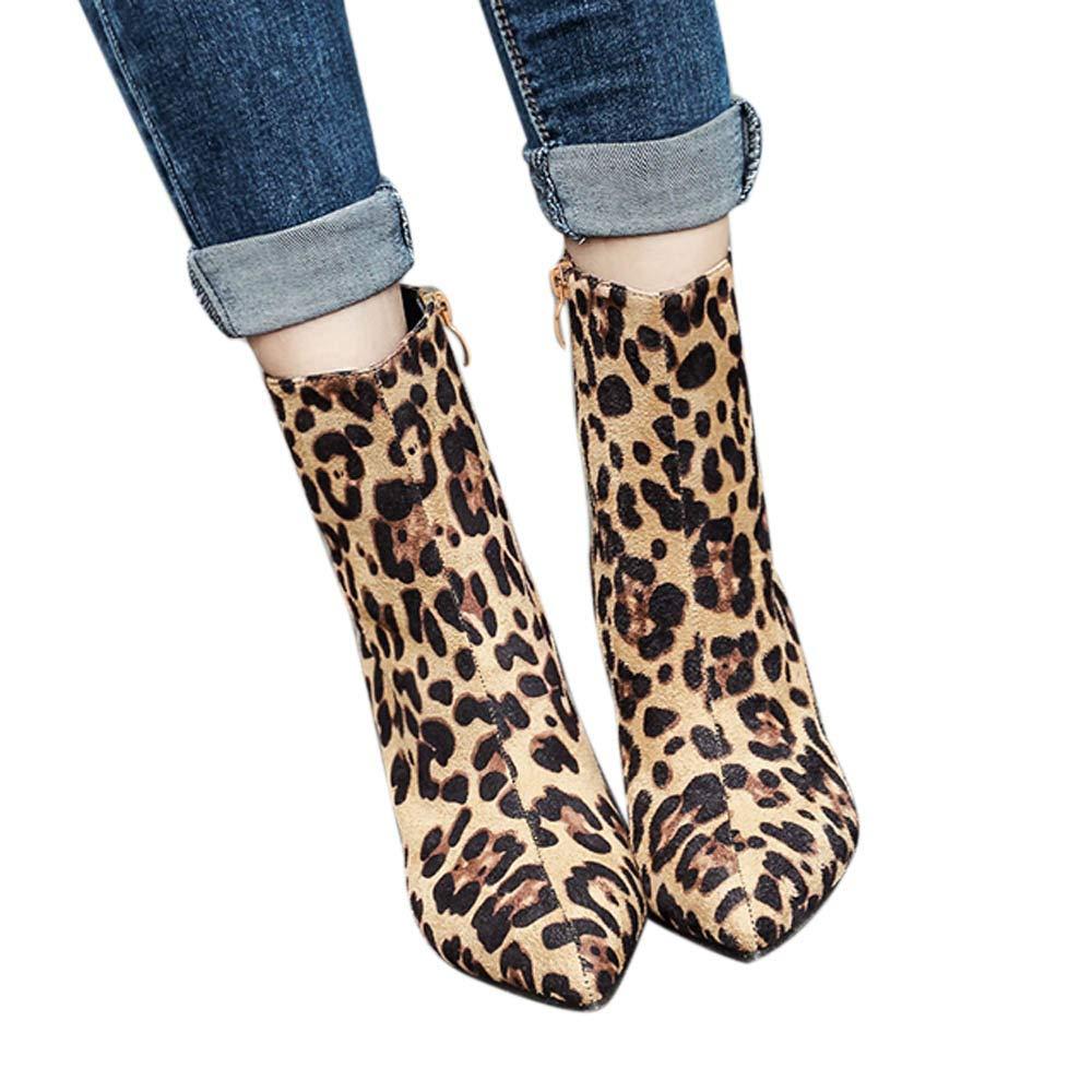 Faionny Women Boots High Heel Ankle Boots Snakeskin Zip Martin Boots Belt Buckle Women Shoes Warm Snow Boots Thick Boots