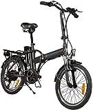 Simple Bike Bicicleta eléctrica Negro Plegable–250-watts- batería extraíble
