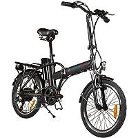 Vélo électrique Noir Pliable - 250-watts- Batterie Amovible