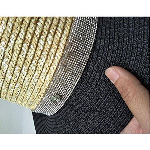 Imitación Plana Mujer Vacaciones Tapa De 2 Xks Para Sombrero Diamantes Paja Elegante 2 Con PxBw0HqX