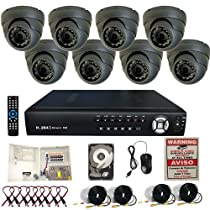8 Ch Channel Home Security Surveillance System 3G & Wifi Support Clouid Option H.264 DVR 1TB