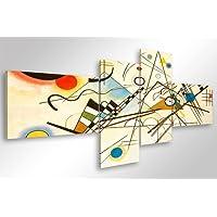 Quadro Moderno KANDINSKY COMPOSIZIONE VIII - cm 160x70 Stampa su Tela Canvas Arredamento Arte Arredo Astratto Design