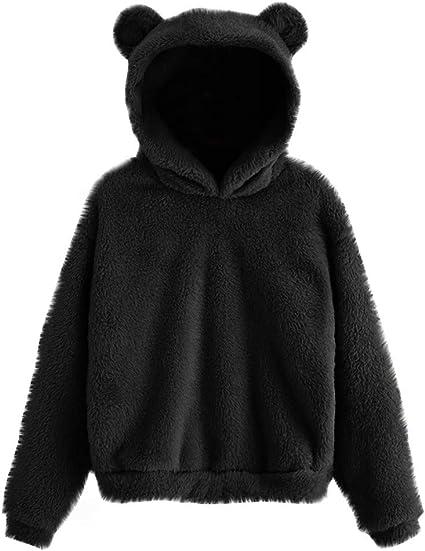 Hoodie Sweatshirts Winter Warm Cute Splice Dinosaur Long Sleeve T-Shirt Tops
