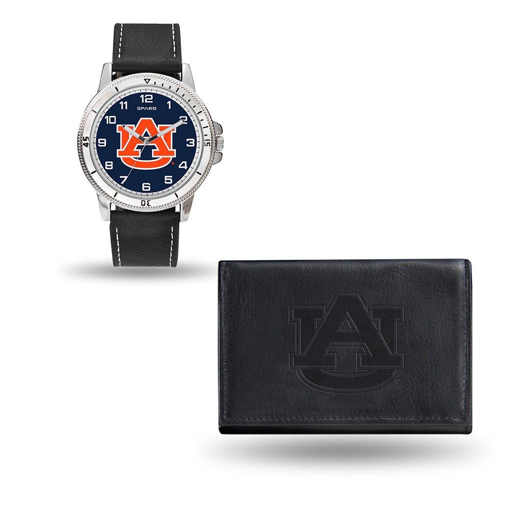 Rico Industries NCAA Auburn Tigers Men's Watch and Wallet Set, Black, 7.5 x 4.25 x 2.75-Inch