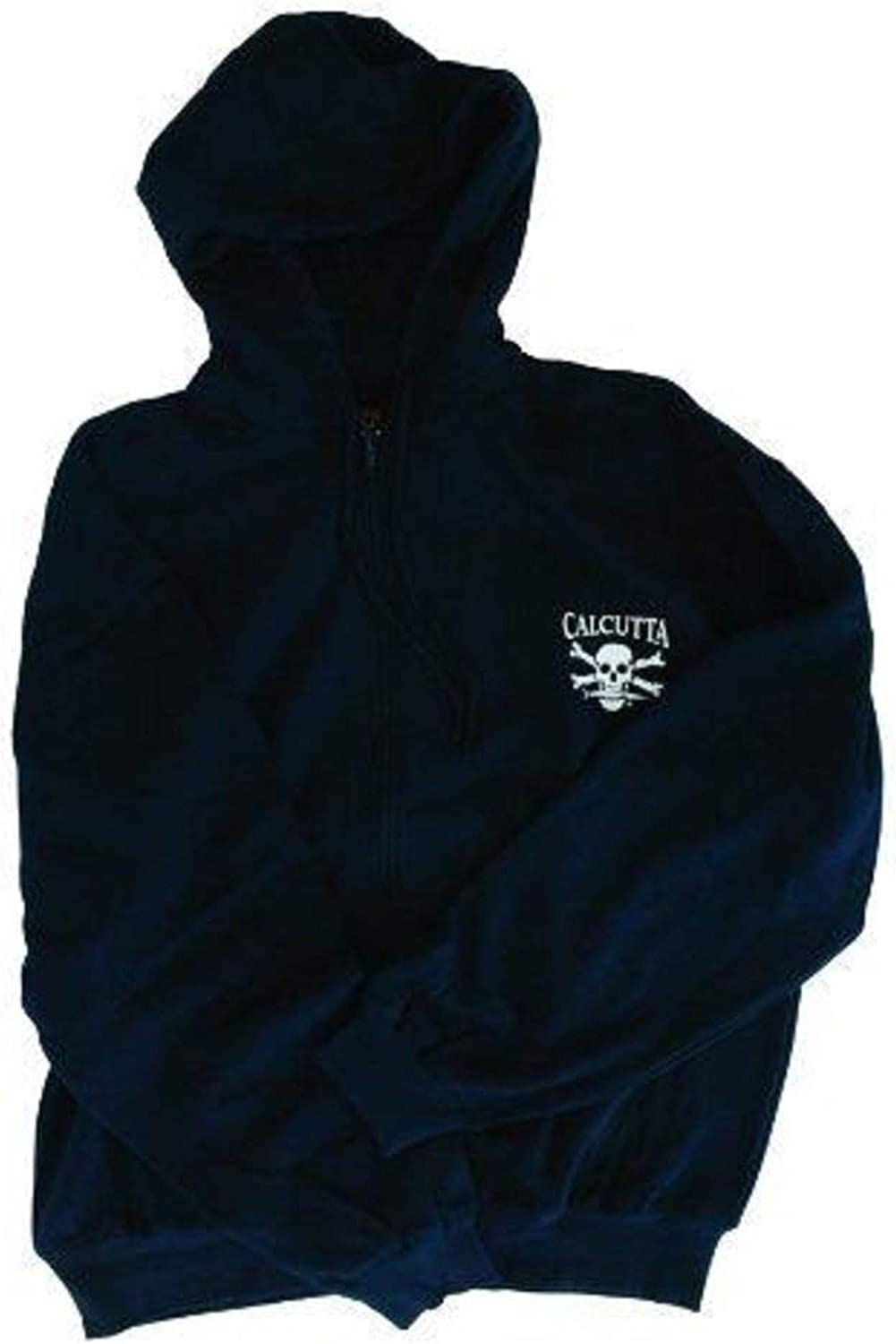 Calcutta Original Logo Full Zipper Hooded Sweatshirt Navy