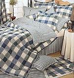 Blue Jewel Checkered Twin Comforter Set Teen Bedding