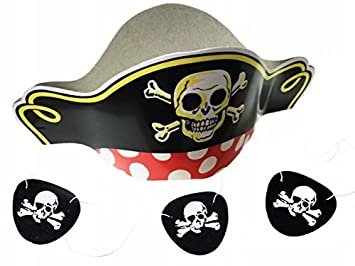f154a7d8403 Amazon.com  GIFTEXPRESS Pirate Hats and Felt Pirate Eye Patches 1 ...