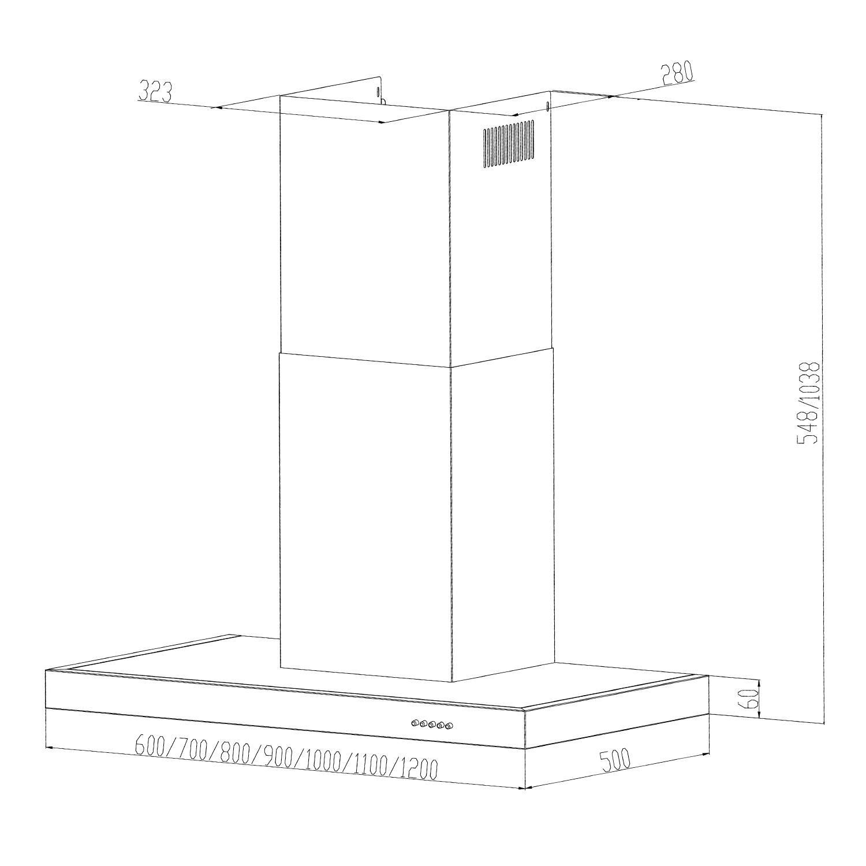 Klarstein Zarah Cappa Aspirante da parete (60 cm, capacità di ...