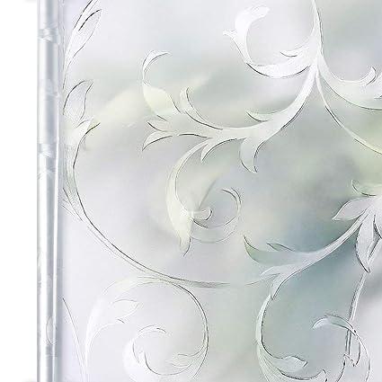 Homein Fensterfolie Sichtschutzfolie Milchglasfolie Selbstklebend  Sichtschutz Folie Fenster Blickdicht Dekorfolie für Bad Deko Duschkabine  Badfenster ...