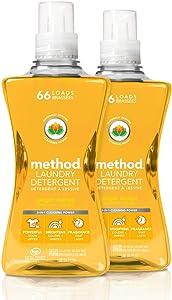 Method Laundry Detergent, Ginger Mango, 66 Loads, 53.5 Fl Oz (Pack of 2)