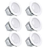 Luxrite 4 Inch LED Recessed Light with Junction Box, 10W, 3000K Soft White, Dimmable Airtight Downlight, 750lm, Energy Star, IC & Wet Rated, 120V - 277V, Recessed Lighting Kit (6 Pack)