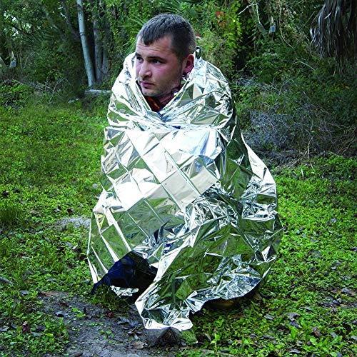 Lhoste Outdoor Water Proof Emergency Rescue Blanket Foil Thermal Space First Aid Sliver Rescue Curtain Blanket