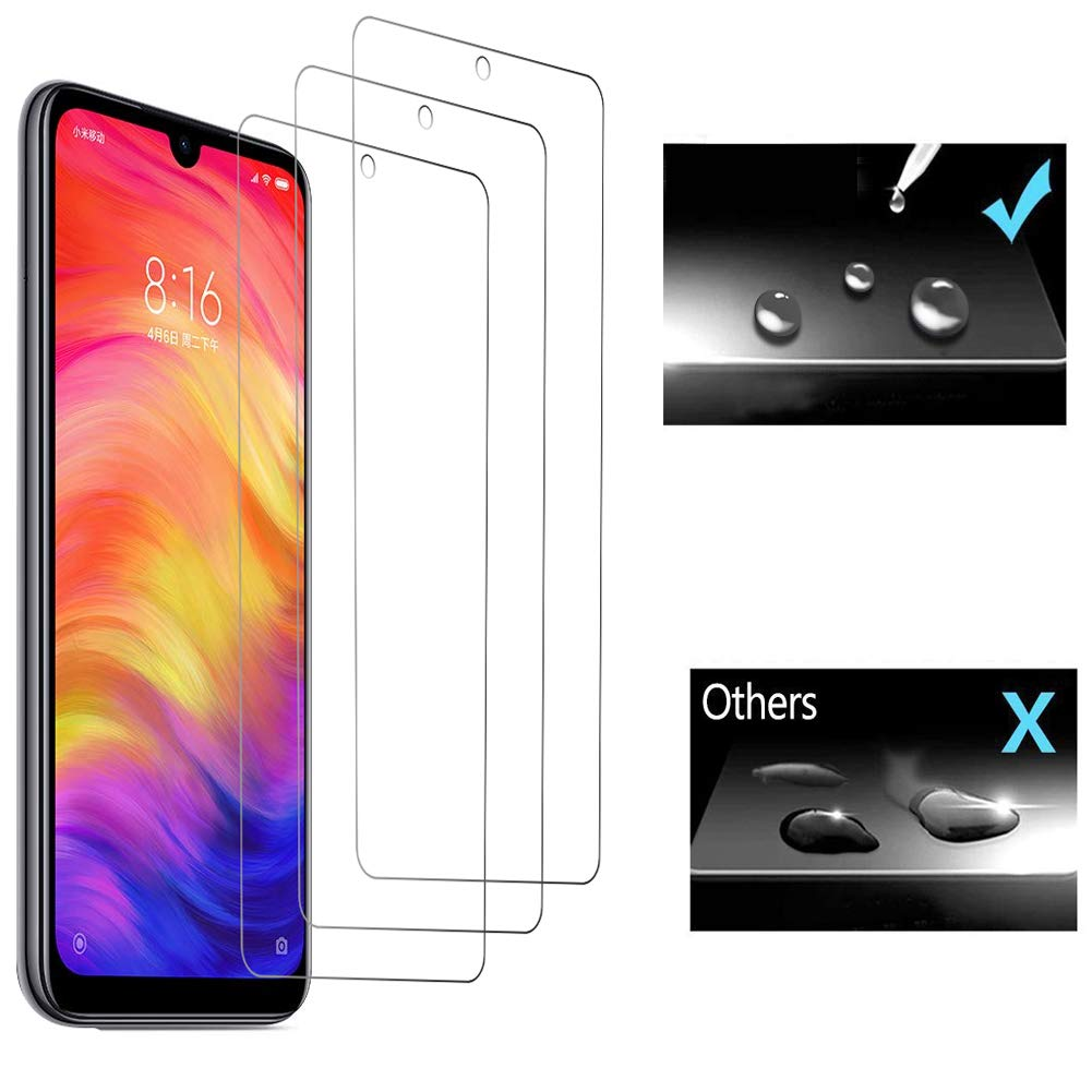 Peloo Protector de Pantalla para Xiaomi Redmi Note 7 Pro/Redmi Note 7 [3 Unidades] Cristal Templado para Xiaomi Redmi Note 7 Pro/Redmi Note 7 9H ...