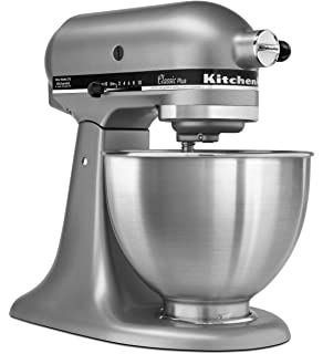 KitchenAid KSM75SL Classic Plus 4.5 Qt. Tilt Head Stand Mixer, Silver