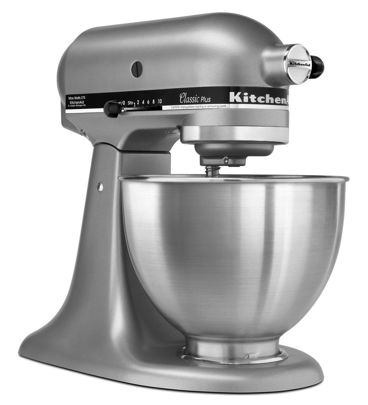 KitchenAid KSM75SL Classic Plus 4.5-Qt. Tilt-Head Stand Mixer, Silver by KitchenAid