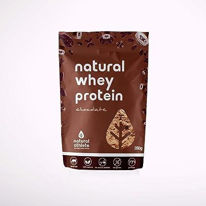 Proteína Whey Chocolate - Natural Athlete - 80% Proteína aislada de leche de vacas de pasto- Grass-fed - 100% Natural- Sin Gluten - Sin Azúcar añadido ...