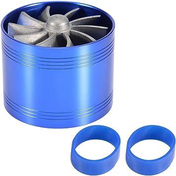 "2.5/""-2.9/"" Air Intake Turbonator Single Fan Gas Fuel Saver Turbine Super Charger"