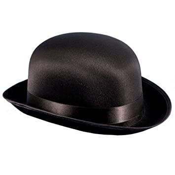 5bff262636a56 Amazon.com   Adult Black Satin Derby Bowler Hat   Everything Else