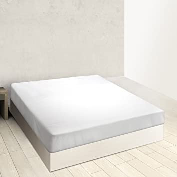 BURRITO BLANCO Sábana Bajera Ajustable Algodón 100% A8 para Cama Individual de 120x190 hasta 120x200 cm (Más Medidas Disponibles), Color Blanco: Amazon.es: ...