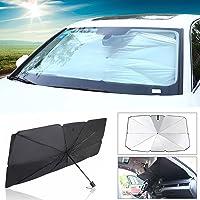 Winbang Couverture de pare-brise de voiture mousse pare-soleil pliante de pare-brise pliable anti-UV r/ésistant /à froid