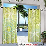 berrly Outdoor Blackout Curtains,Beautiful Small Waterfall in deep Forest Thailand with Sunlight in